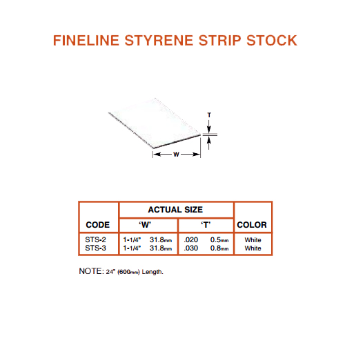 Plastruct Fineline Strip Stock: .020