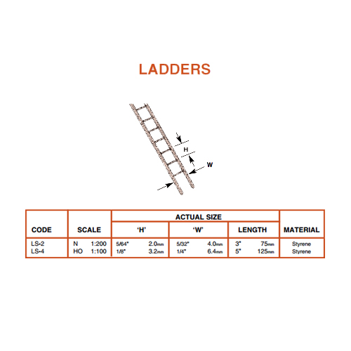 Plastruct Fineline Ladders