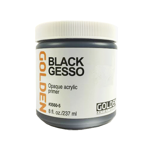 Golden Black Gesso Primer