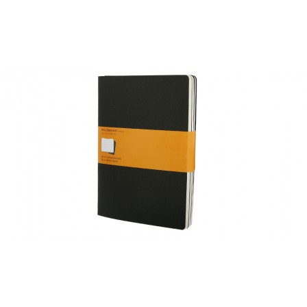 Cahier Journals Ruled XLarge Black Set of 3