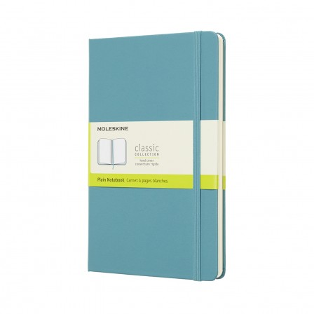 Moleskine Classic Notebook Large Plain Hard Cover Reef Blue