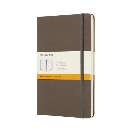 Moleskine Classic Notebook Large Ruled Hard Cover Earth Brown