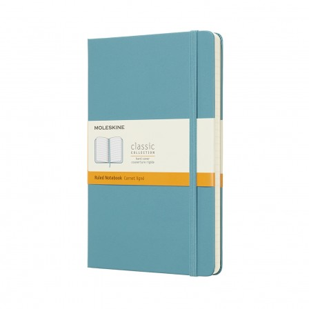 Moleskine Classic Notebook Large Ruled Hard Cover Reef Blue