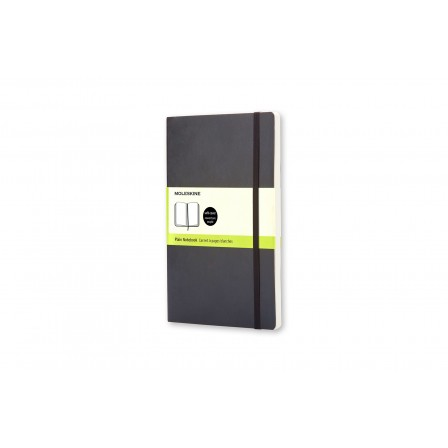 Moleskine Classic Notebook Plain Soft Black Large