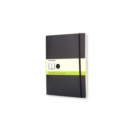 Moleskine Classic Notebook Plain Soft Black Xlarge