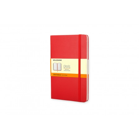 Moleskine Coloured Notebook Hard Large Ruled Red