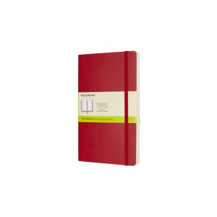 Moleskine Classic Notebook Soft Plain Large Scarlet Red