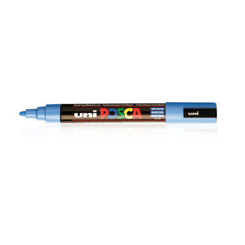 Posca PC-7M Large Bullet Tip: Black
