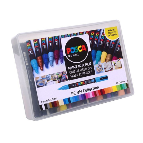 Posca PC-3M Collection of 40 Fine Bullet Tip Pens