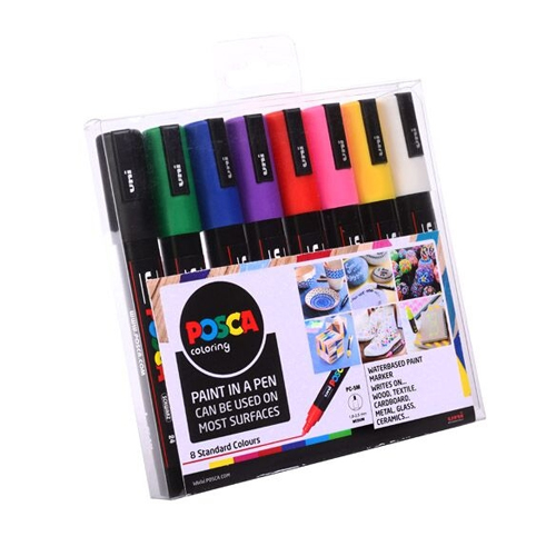 Posca PC-5M Starter Set of 8 Medium Bullet Tip