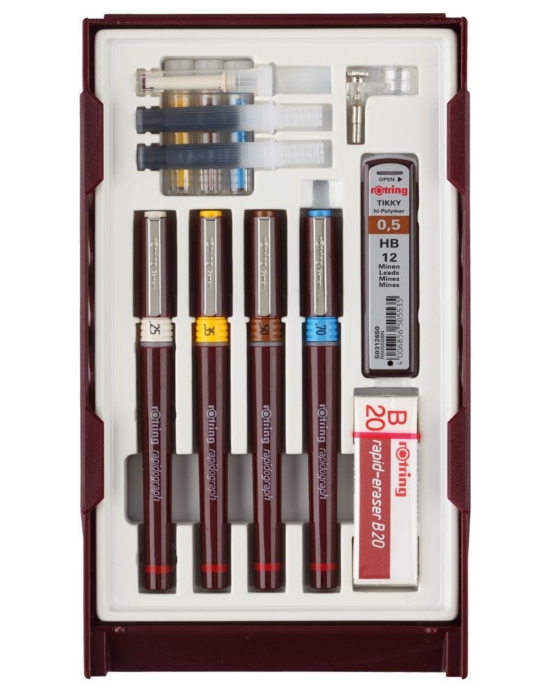Rotring Rapidograph College Set