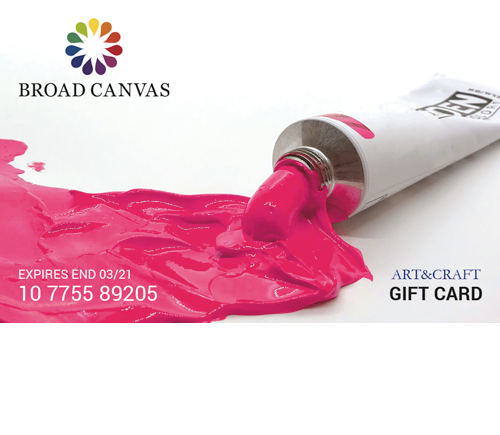 Broad Canvas Arts and Crafts Gift Card
