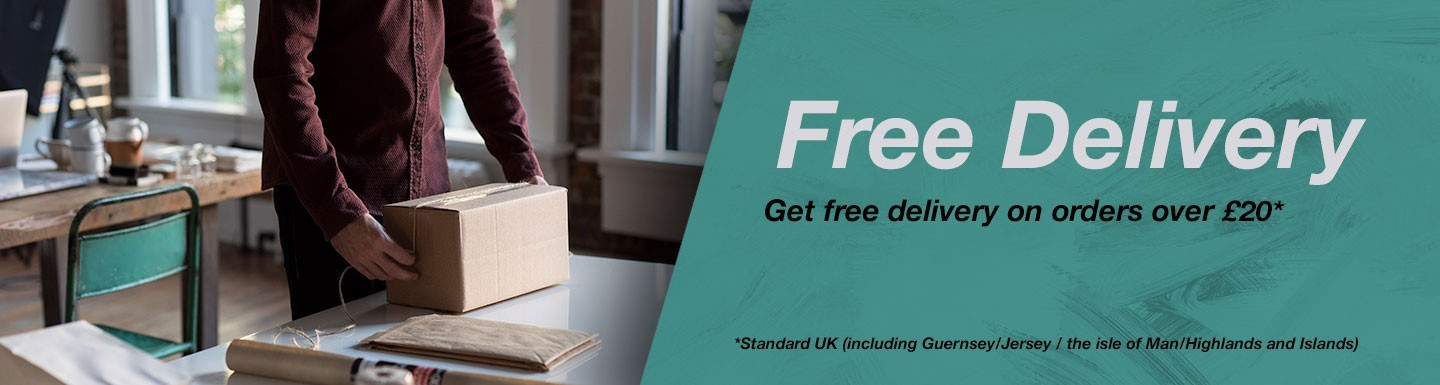 Get free delivery on orders over £20