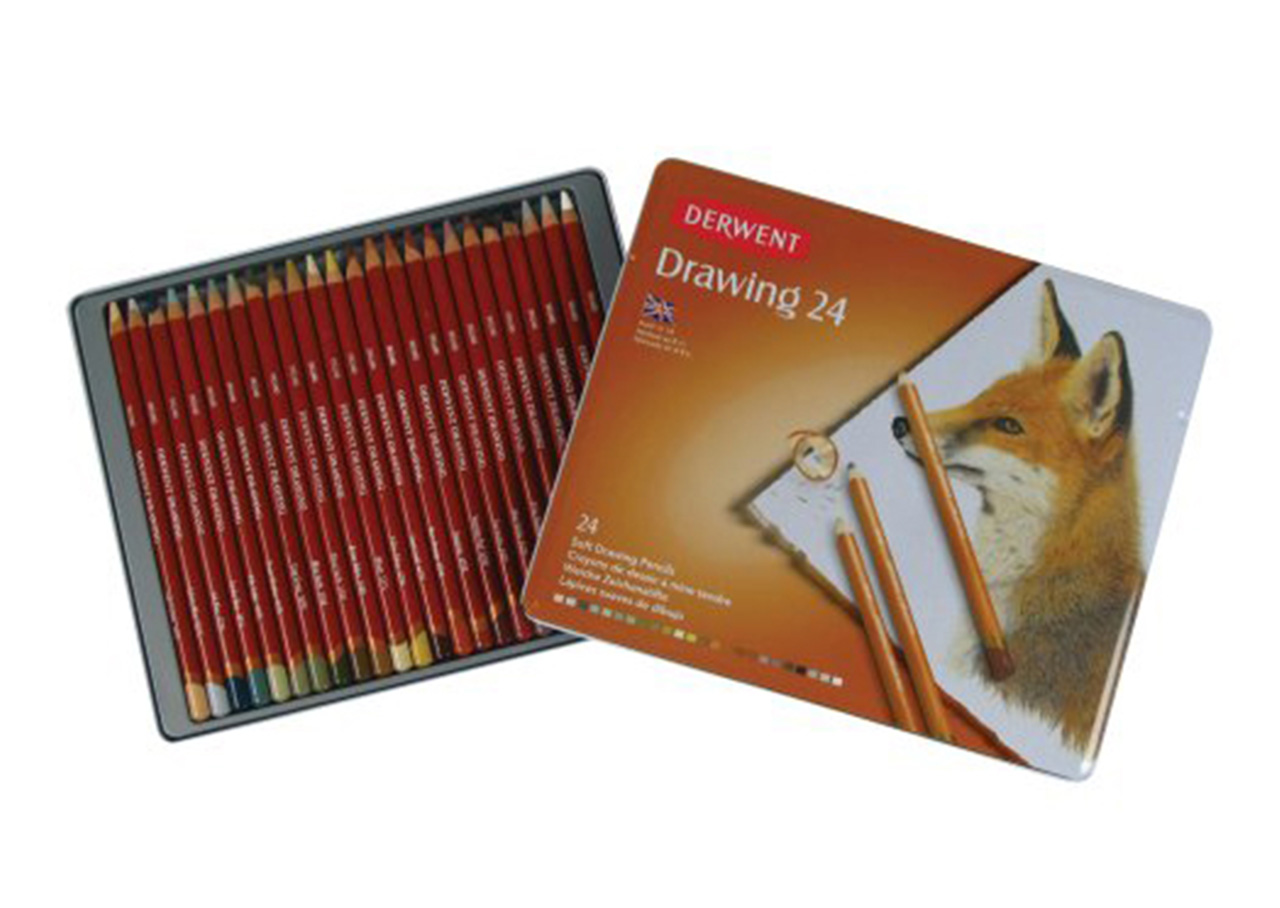 Derwent Drawing Pencils Tin Set of 24