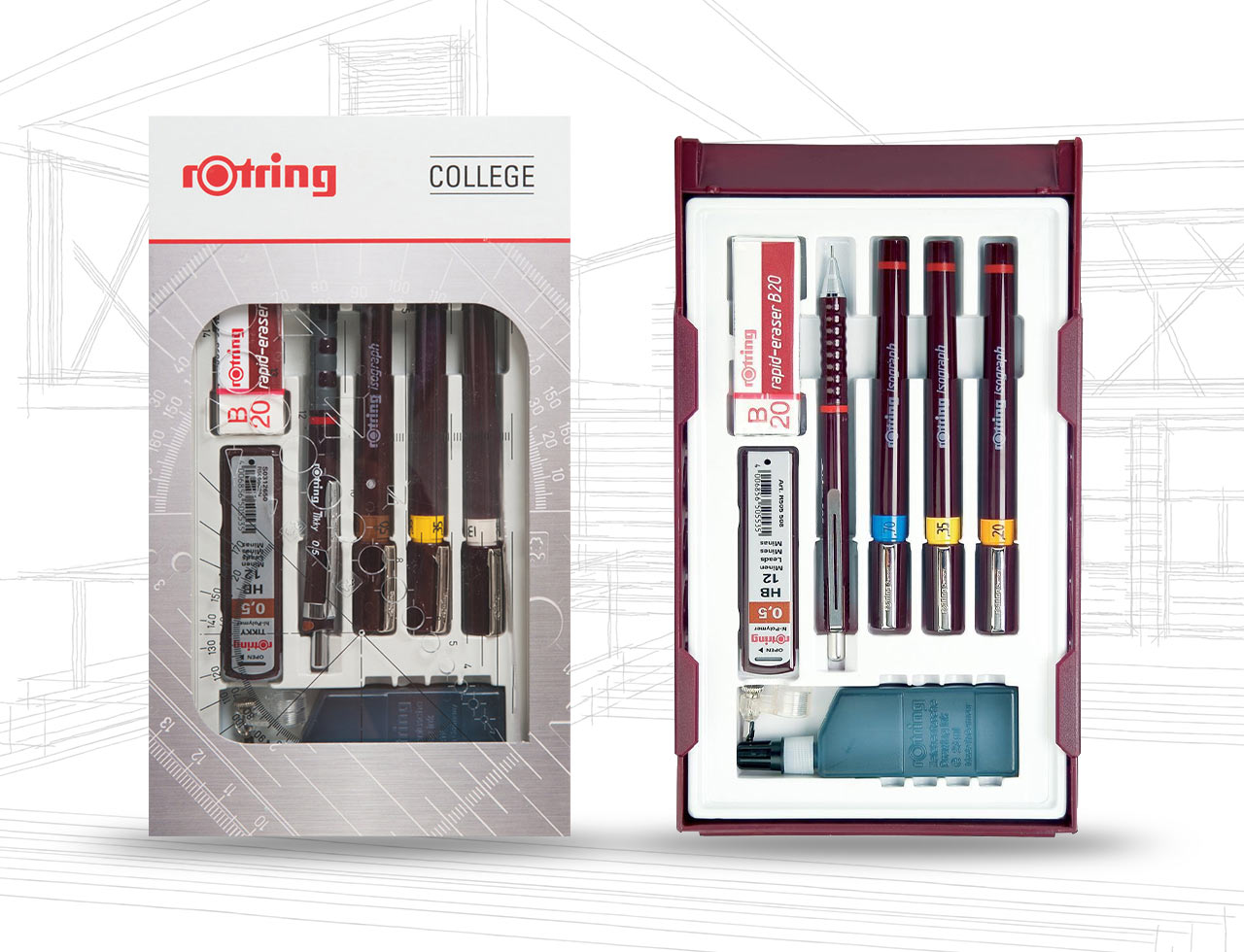 Rotring Isograph College Pen Set