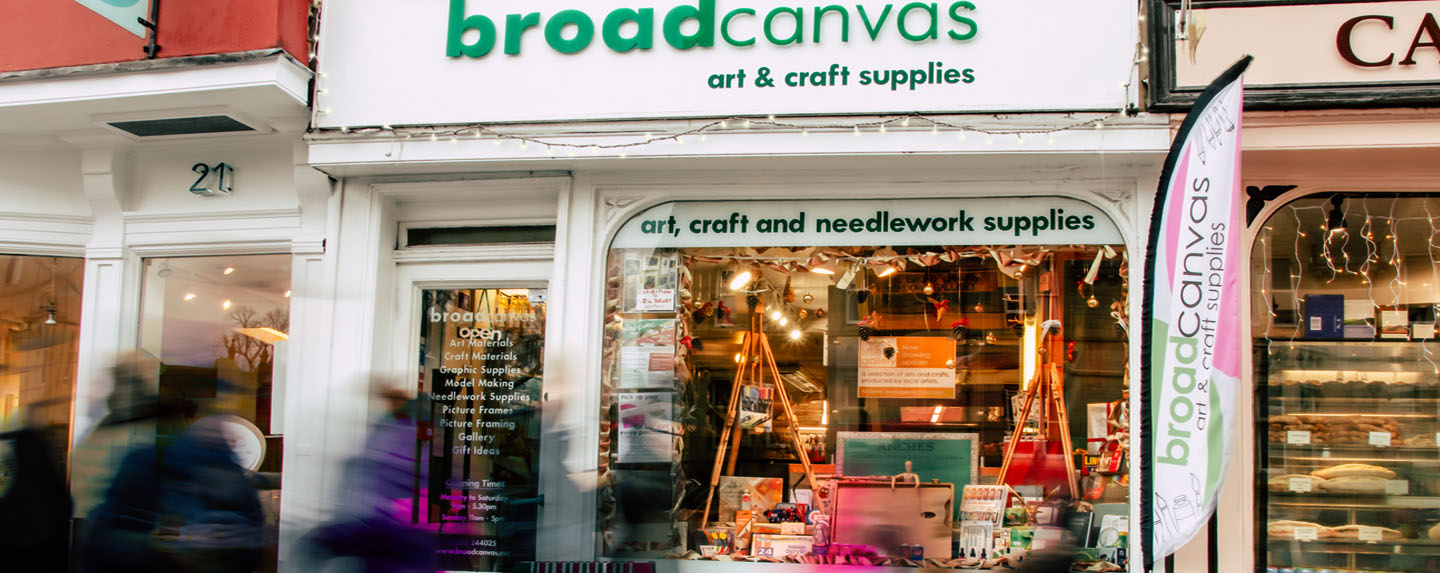 Broad Canvas, art and craft supplies, Oxford